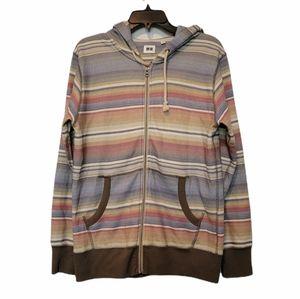 Uniqlo Men's Full Zip Multi-colored Hoodie